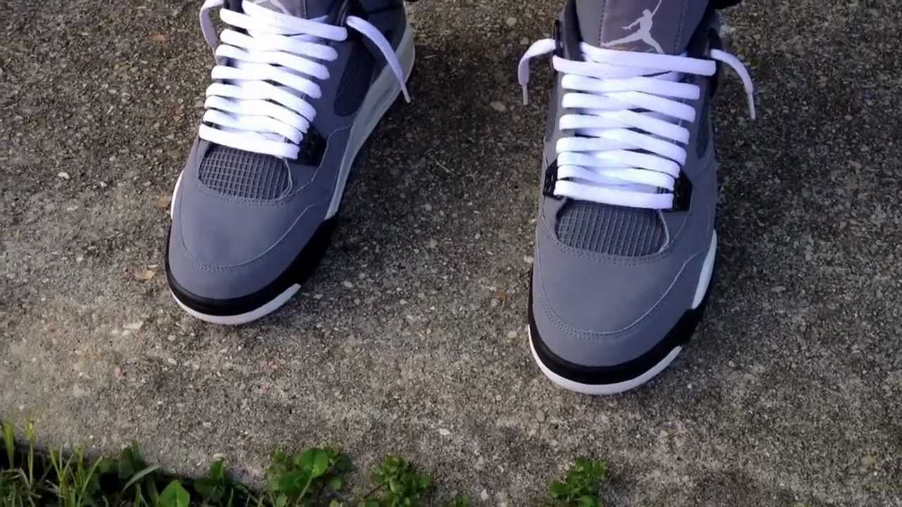 83cfbd0b9fe3bd ... netherlands air jordan 4 iv retro 2004 cool grey on feet youtube cd485  12411