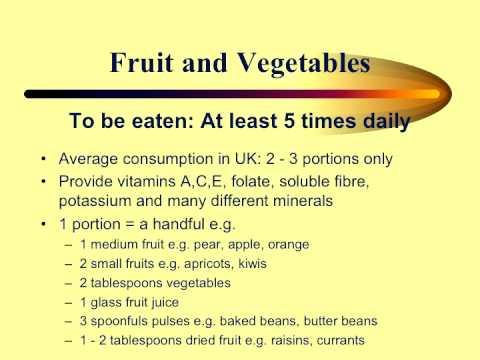 Healthy eating presentation
