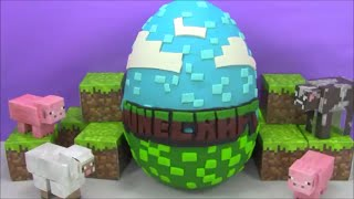 Huge Minecraft Giant Surprise Egg Play Doh filled with Toys from Big Hero 6 and more!