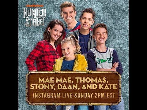 Hunter Street Cast instagram live @nickelodeon 18.02.2018
