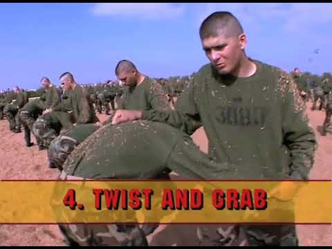 HOW TO GET OUT OF A CHOKE HOLD! USMC HAND TO HAND COMBAT