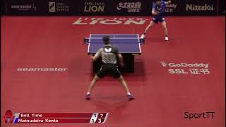 Timo Boll vs Kenta Matsudaira [ Japan Open 2018 ] R8