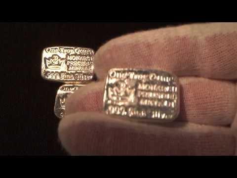 Hand Poured 1 oz Monarch Precious Metals Bars! - Silver Bars Review