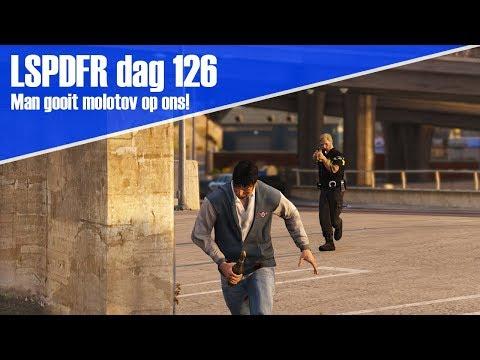 GTA 5 lspdfr dag 126 - Man gooit molotov naar ons!
