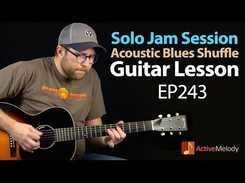 Have your own jam session in this solo Acoustic Blues Guitar Lesson