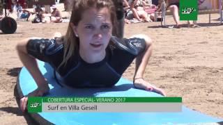 Una primera clases de surf en las playas de Villa Gesell