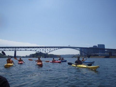Kayaking Portland Oregon Willamette River – Ross Island - August 19, 2014