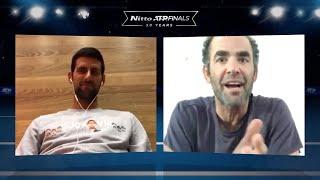 CHAMPIONS CHAT   Pete Sampras & Novak Djokovic