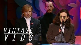 Vintage Vids: Rush Inducted Into The Canadian Music Hall Of Fame  1994   | Juno Tv