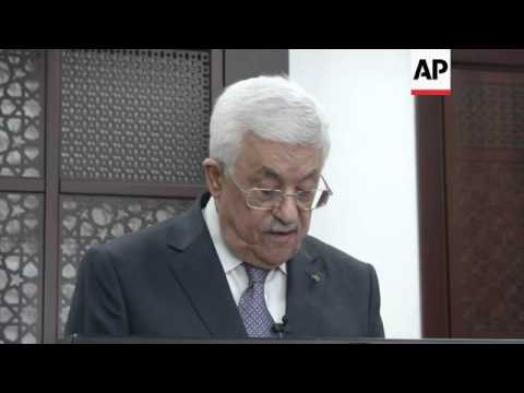 Israel and Hamas announce open-ended ceasefire in Gaza; celebrations in Gaza; Abbas comments