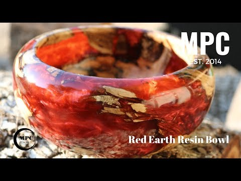 Red Earth Resin Bowl