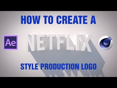 How to make the Netflix Production logo in Cinema 4D