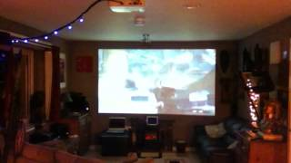 "C.O.D GHOSTS on 165""projector screen"
