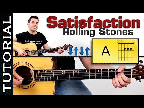 como tocar: Rolling Stones Satisfaction en guitarra tutorial completo super facil!