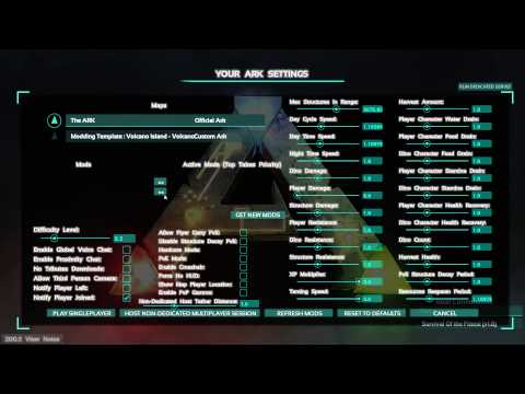 Ark survival dedicated server settings i