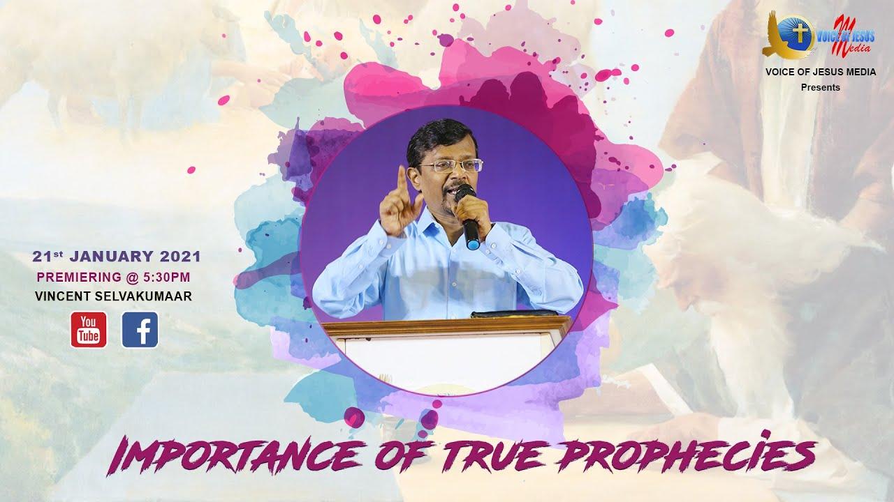 IMPORTANCE OF TRUE PROPHECIES | Snippets | Bro Vincent Selvakumar