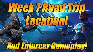 NEW ROAD TRIP SKIN GAMEPLAY IN FORTNITE! WEEK 7 ROAD TRIP TIER LOCATION +MORE!
