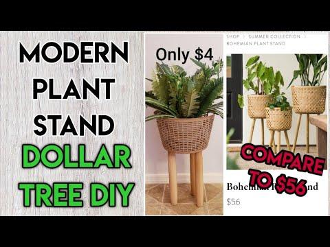 MODERN PLANT STAND / Dollar Tree DIY