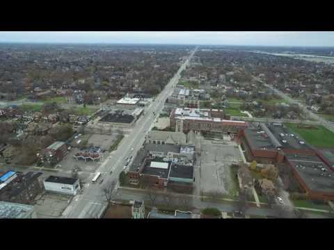 Flight Of The DJI Phantom 3 Advanced In Highland Park Michigan Saturday November 26, 2016