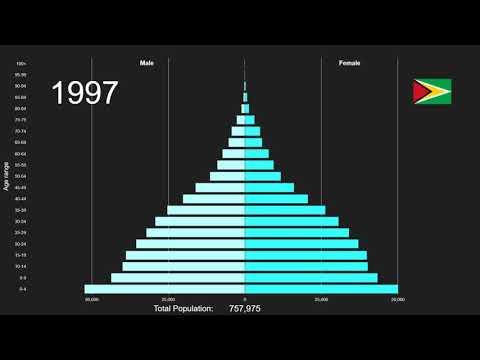 Guyana Population Pyramid 1950-2100