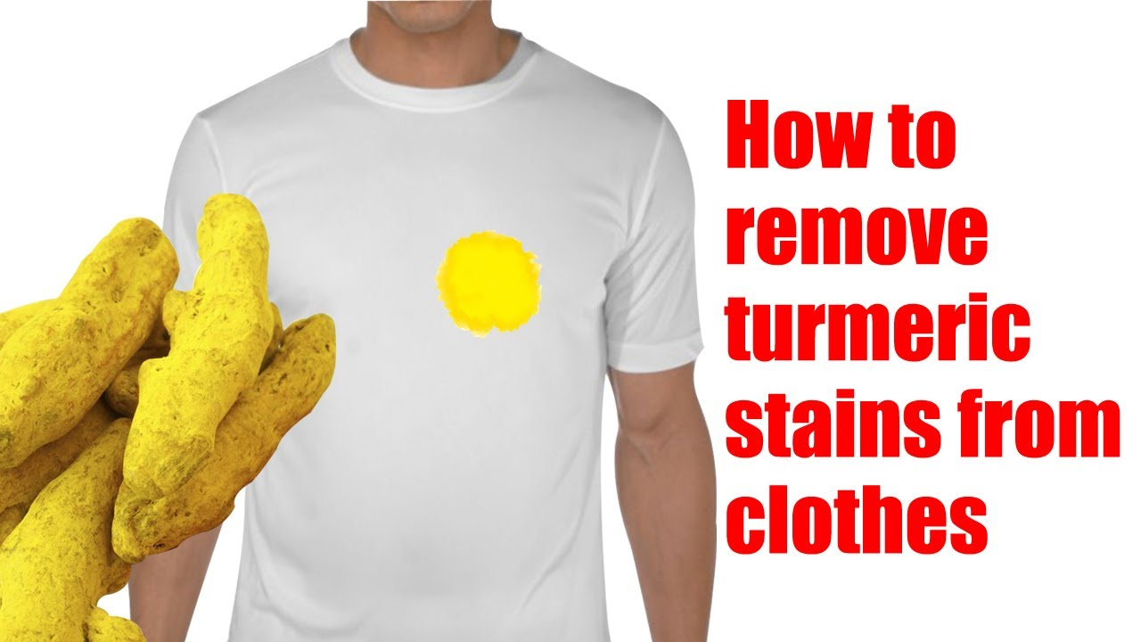 how to remove turmeric stains from clothes youtube