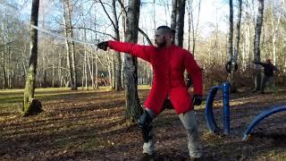 Урок - кистевые удары, техника выполнения. Обучение фехтованию.