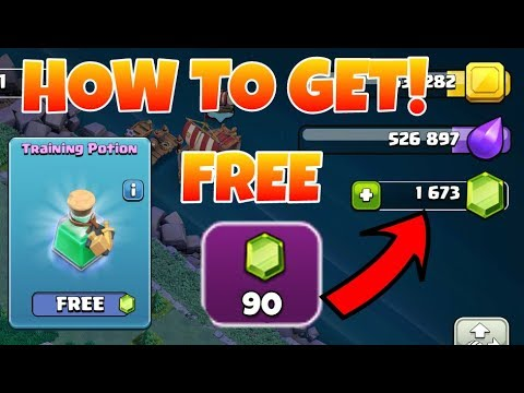How To Get A Free Training Potion And Free 90 Gems In Clash Of Clans(hindi)sam1735(achievement)