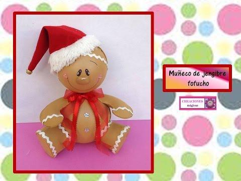 Mu eco de jengibre fofucho decoraciones navide as - Como hacer decoraciones navidenas ...