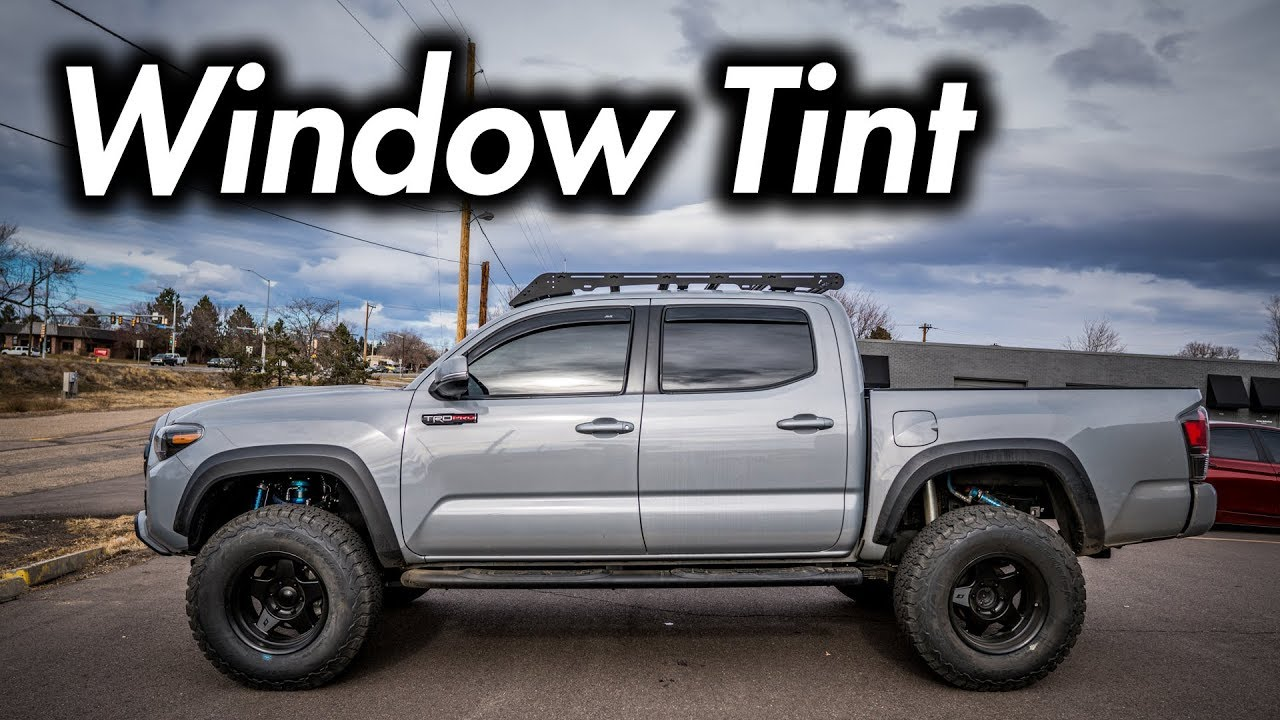 Window Tint On The Rear Of The Tacoma Why Youtube