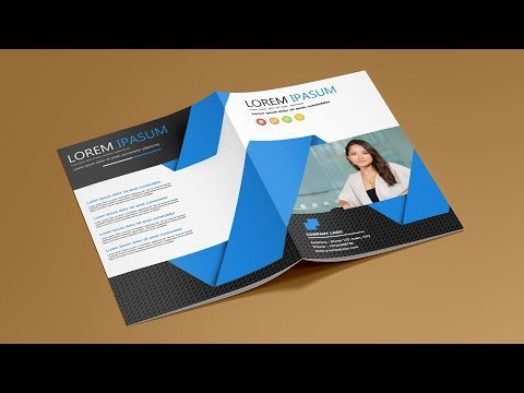 How To Design Company Profile Template - Photoshop Tutorial.