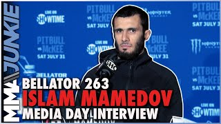 Islam Mamedov on debut vs. Brent Primus: 'Happy they gave me the former champ' | Bellator 263