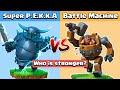 Super PEKKA Vs Battle Machine Vs All Defense   Clash of Clans