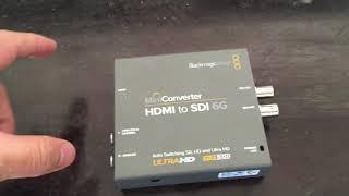 Hdmi to Sdi 6G MiniConverter BlackMagic