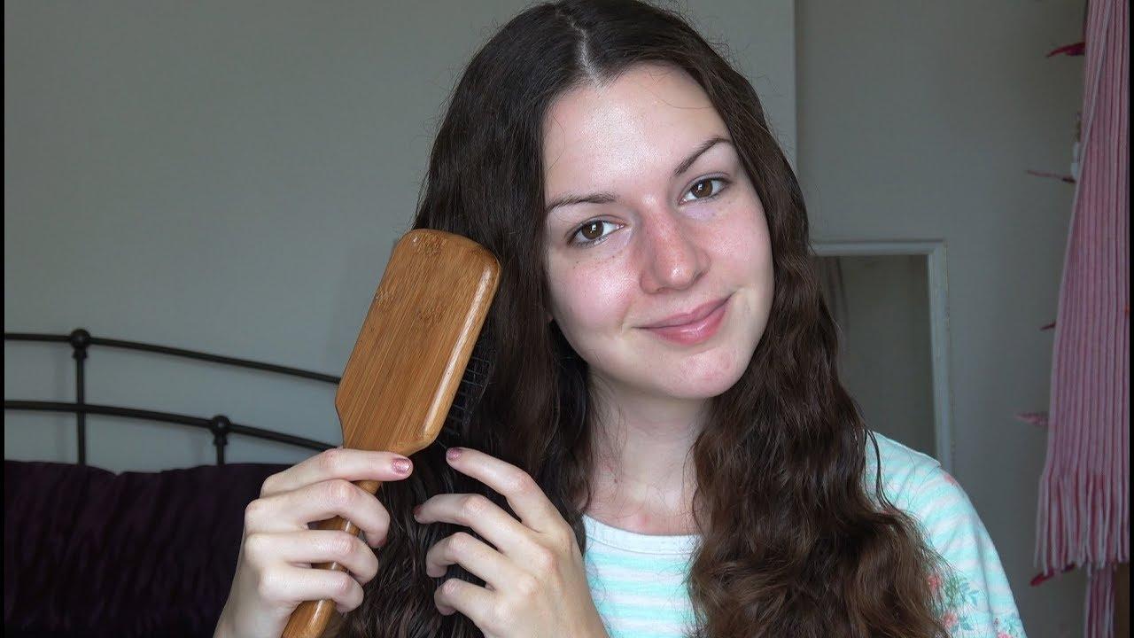 ASMR Hair Brushing w/ Spray Sounds - YouTube