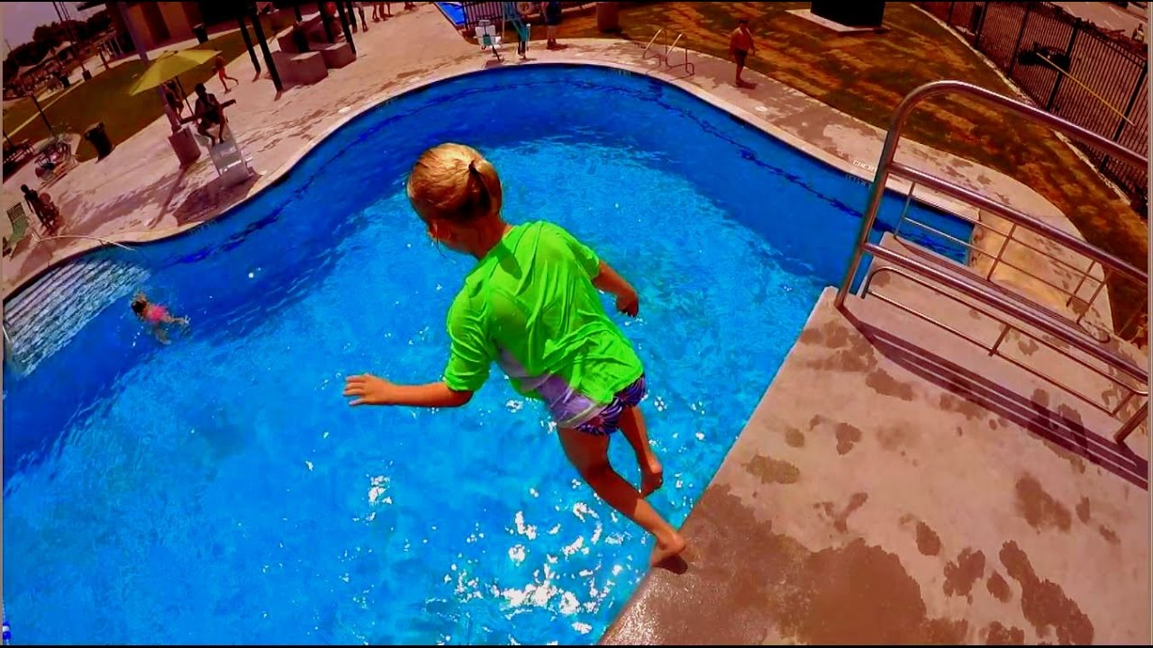 Platform Diving And Rock Wall Climbing At Jack Carter Pool Youtube