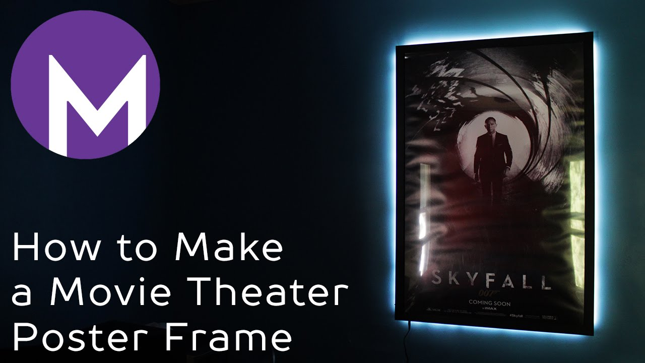 How to Make a Movie Theater Poster Frame - YouTube