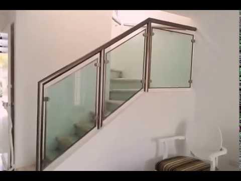 Barandal De Aluminio Y Vidrio Youtube