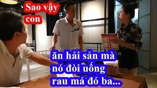 Liều mạng vào nhà hàng hải sản to nhất Sầm Sơn Thanh Hóa gọi ly rau má và cái kết giựt mình