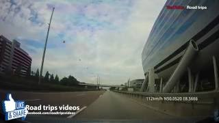 ROAD TRIP: from FRANKFURT AM MAIN to FRANKFURT AIRPORT / HIGHWAY DRIVE A3 / A5