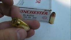 .45 ACP - Winchester White Box USA Jug Test with Denim