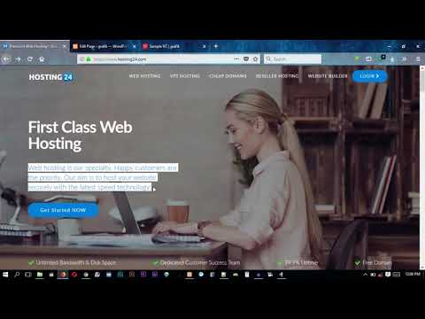 WordPress landing page visual composer