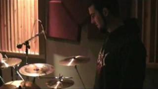 Adam Jarvis in studio Sick Drummer Magazine promo