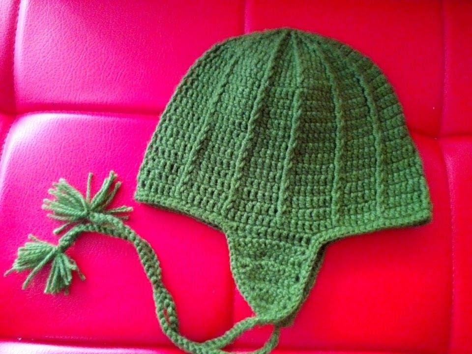 Gorro Tejido En Crochet Para Hombre - YouTube