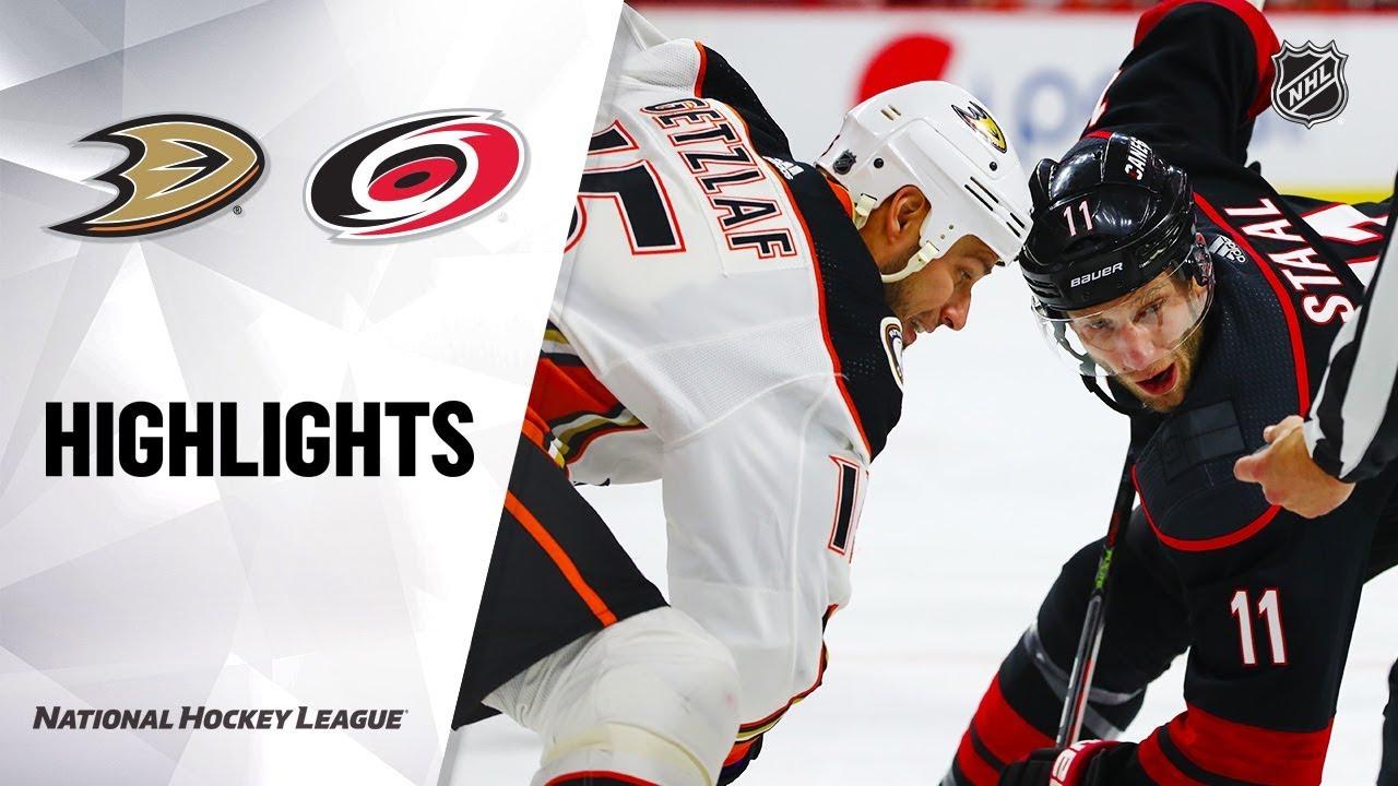 NHL Highlights | Ducks @ Hurricanes 1/17/20