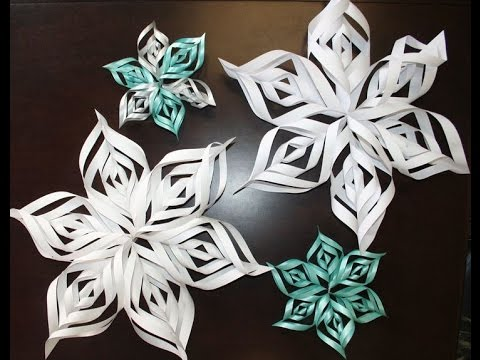 diy how to make a snowflake out of one paper christmas big snowflakes youtube. Black Bedroom Furniture Sets. Home Design Ideas