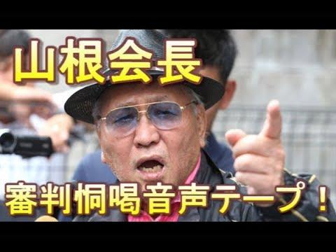 """不正判定の決定的証拠 これが山根元会長の""""恫喝""""音声データだ!"""