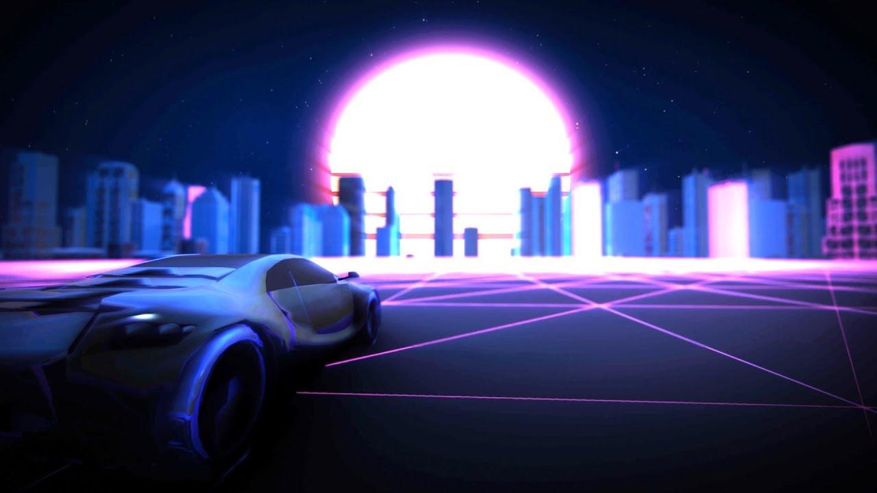 Retro Synthwave Background Animation Loop 1