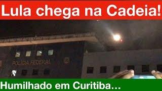 O que a TV não mostrou na Humilhante chegada do Lula de Helicóptero na PF de Curitiba! Festão!