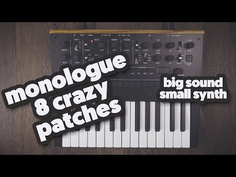 8 crazy big patches for the little Korg Monologue (sound demo)