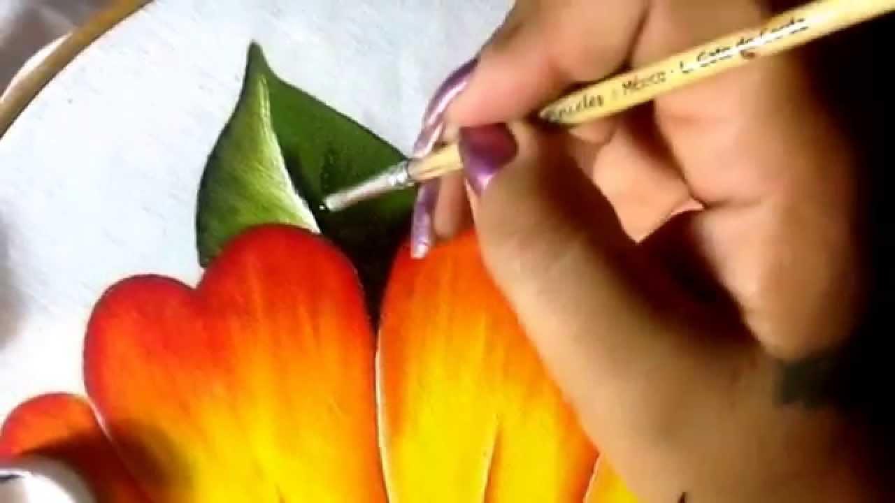 Pintura en tela ni a margarita 5 con cony youtube - Pintar una mesa de madera ...
